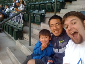 Kai, Takeshi, and Me at the TBTL Mariners night